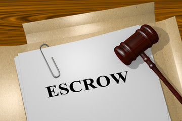 Document that reads escrow or closing