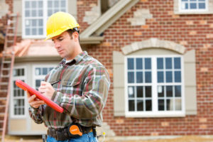 Male home inspector